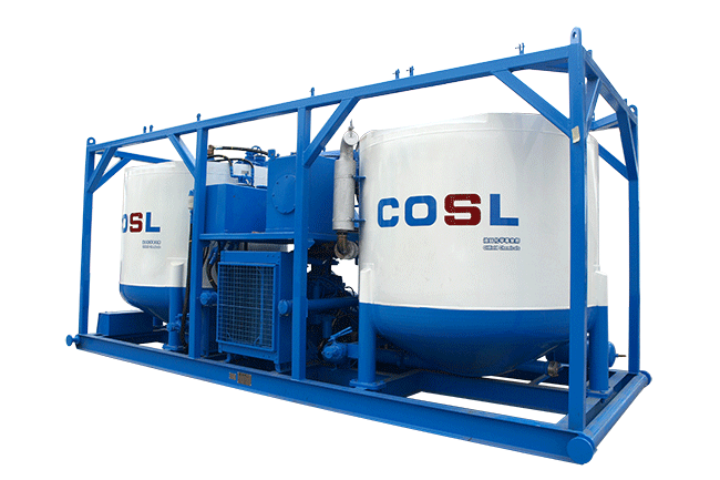 BCS-300-100 Manual Batch Mixing skid