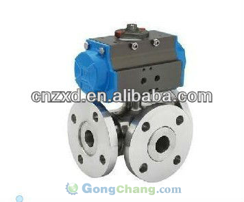 Ansi flanged end ball valve