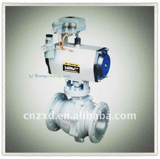 Ball Valves with pneumatic actuator made in china